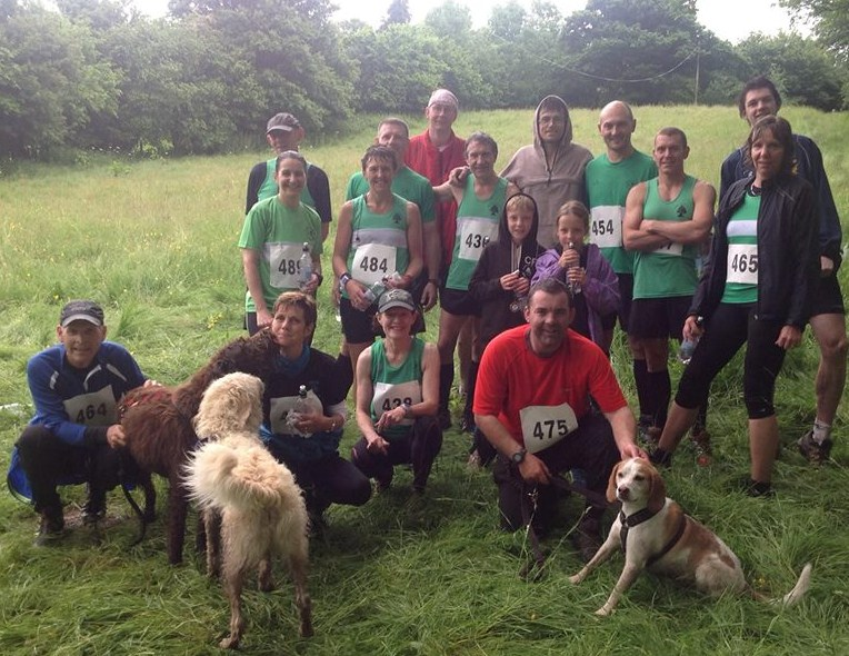 Forest of Dean runner with some of the Canicross Trailrunners